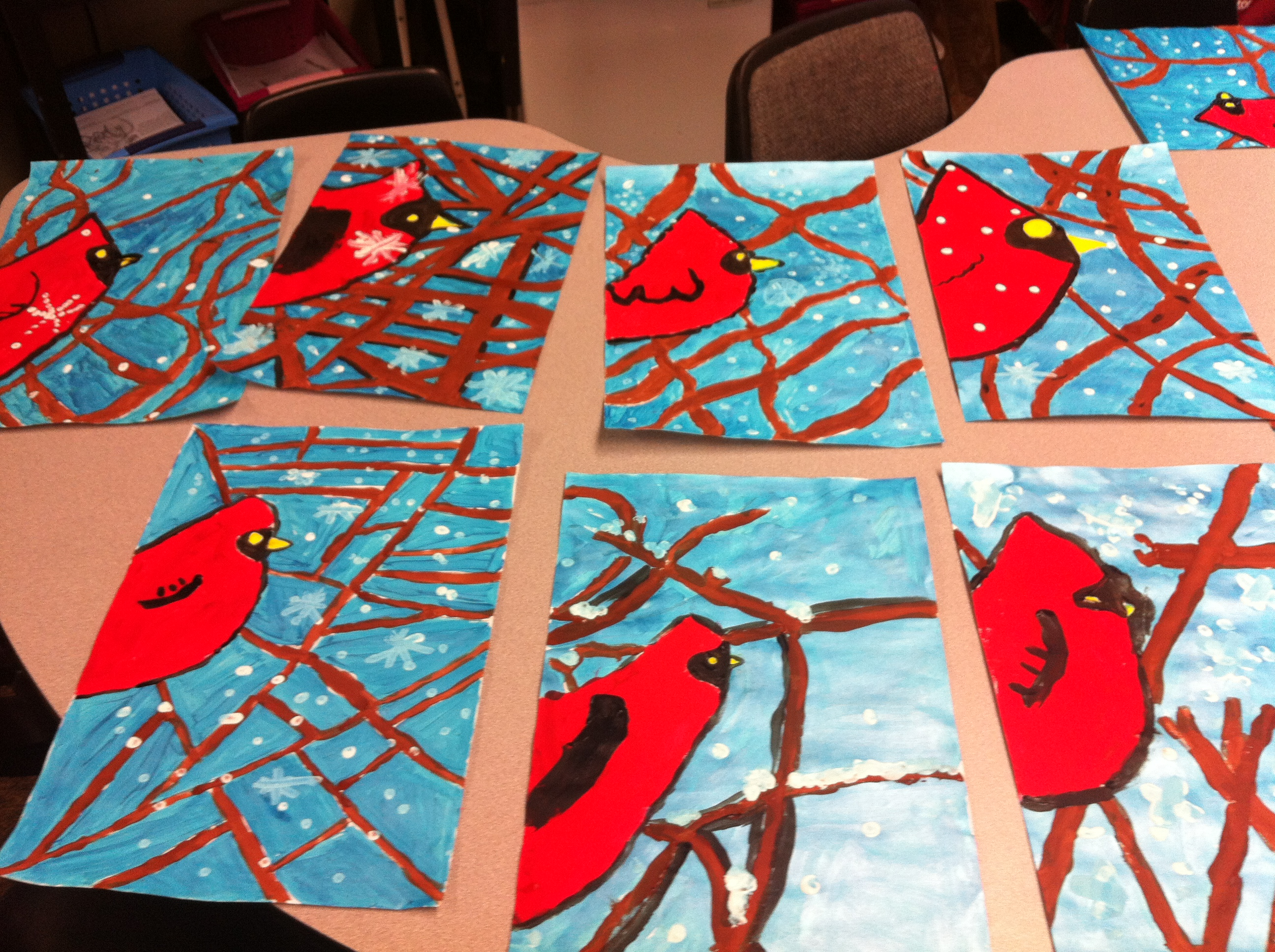 Winter art project yenta mamas for Cool art ideas for kids