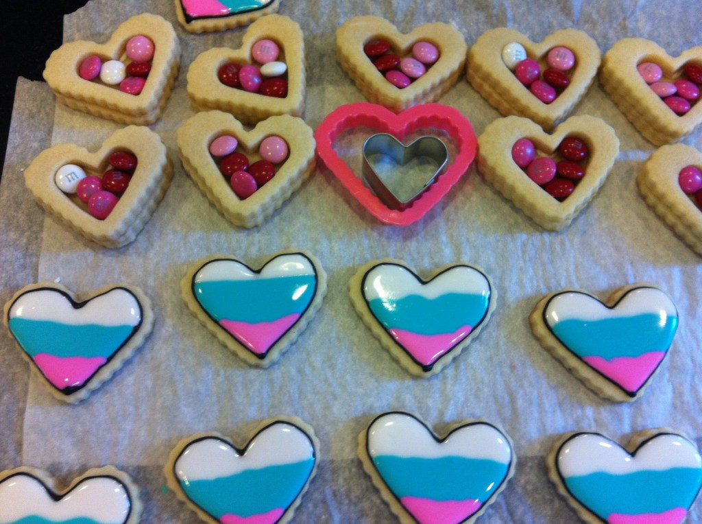 Heart Box decorated tops